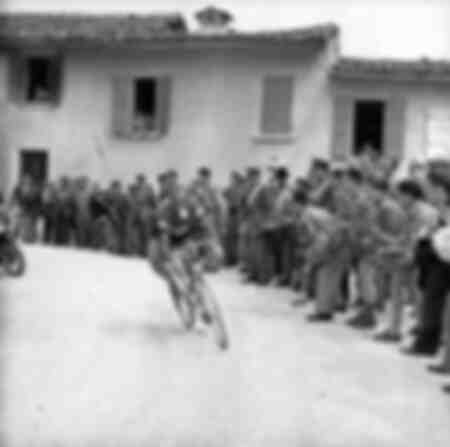 Fiorenzo Magni at the 1955 Giro