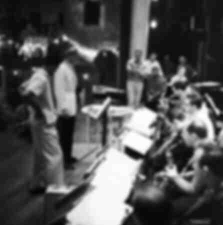 Frank Sinatra in rehearsal