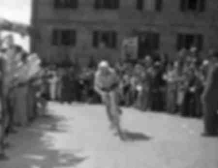 Gino Bartali durante il Giro d'Italia