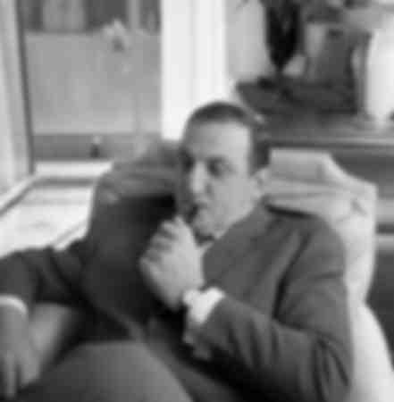 Lino Ventura in his Parisian home
