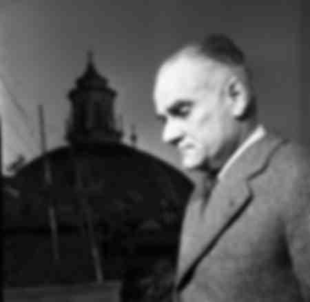 Der Schriftsteller Alberto Moravia
