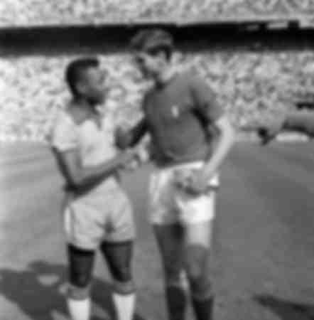 Pele and Giacinto Facchetti