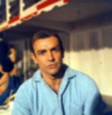 Sean Connery on the set of Goldfinger