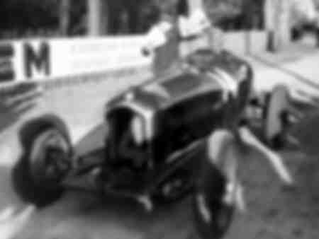 Tazio Nuvolari in an Alfa Romeo