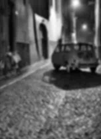 Un Fiat 500 en la década de 1950