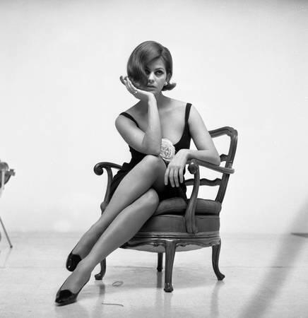 Claudia Cardinale in the Farabola studio