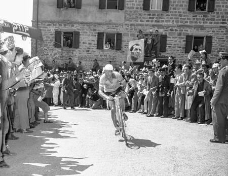 Gino Bartali during the Giro d'Italia