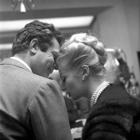 """""""La dolce vita"""" con Marcello Mastroianni e Anita Ekberg"""