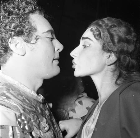 Mario Del Monaco and Maria Callas Milan