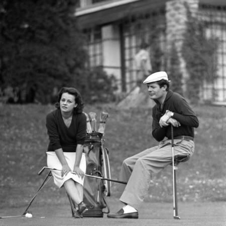 Moreau et Mastroianni au Golf Club