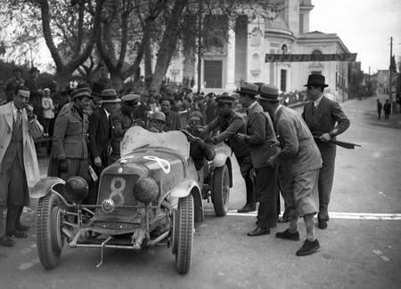 Piero Taruffi and Guerino Bertocchi on Maserati 4CS 1100