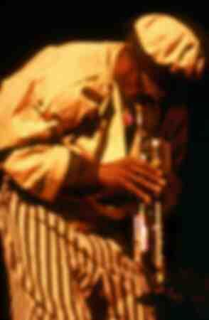 Miles Davis op het podium