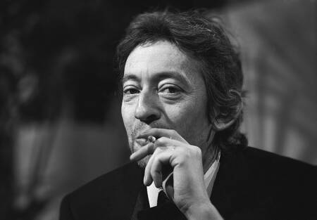 Serge Gainsbourg with a cigarette