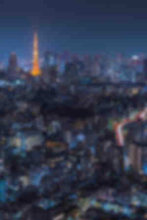 Tokio bij nacht