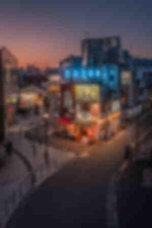 Tokyo Izakaya sunset