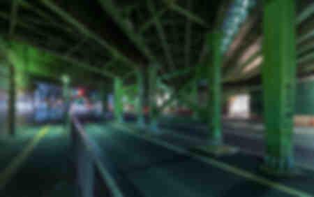 Tokyo under the trains