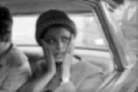 Actress Sophia Loren in the car