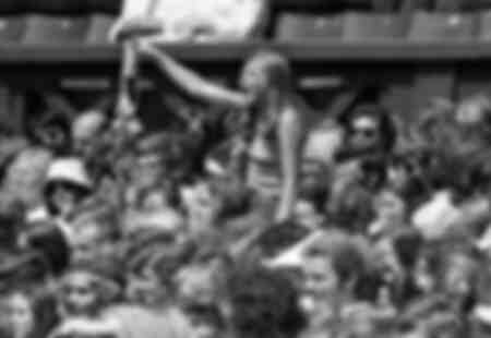 Bjorn Borg Fan during the 1975 Wimbledon Championships