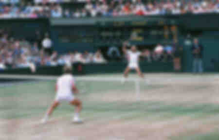 Bjorn Borg In Action During The 1979 Wimbledon Championships