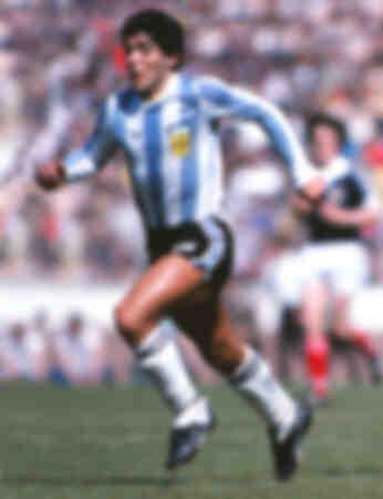Diego Maradona Schotland 1 Argentinië 3