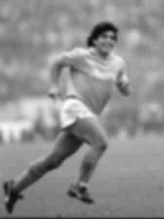 Diego Maradona - Juventus vs Napoli wedstrijd