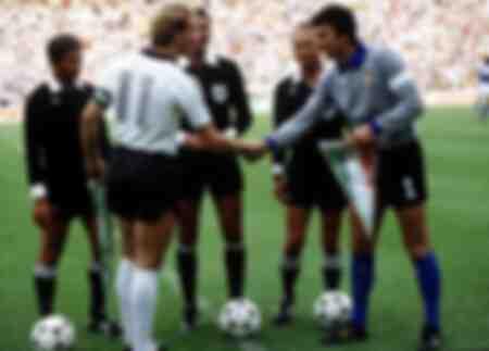 Dino Zoff und Karl-Heinz Rummenigge - Weltmeisterschaft 1982