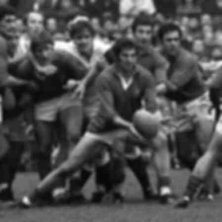 Inglaterra v Francia - Partido de rugby en 1971