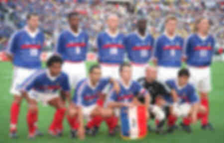France football team before World Cup 1998 final