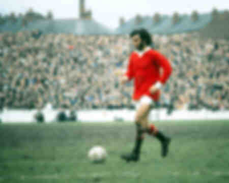 George Best of Man Utd in action at Highfield Road