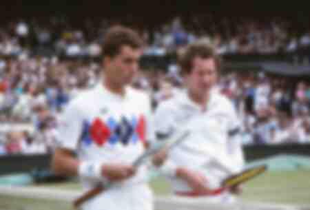 Ivan Lendl et John McEnroe -1983 Wimbledon