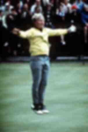 Jack Nicklaus saute en l'air