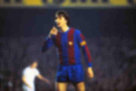 Johan Cruyff jouant contre Aston Villa