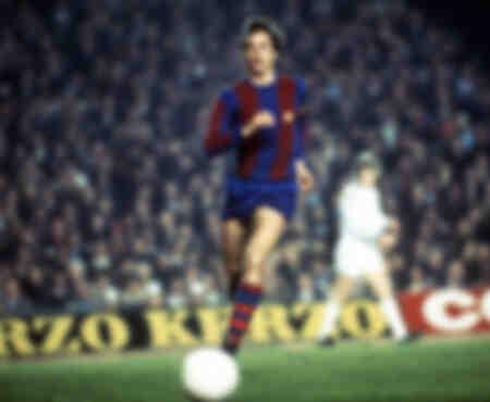 Johan Cruyff jouant pour Barcelone en 1978