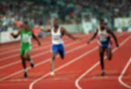 Linford Christie wins the 1993 World Championships