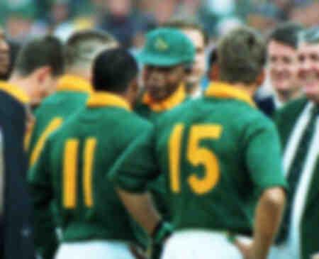 Nelson Mandela rencontre Chester Williams