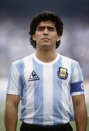 Diego Maradona jouant pour l'Argentine en 1986