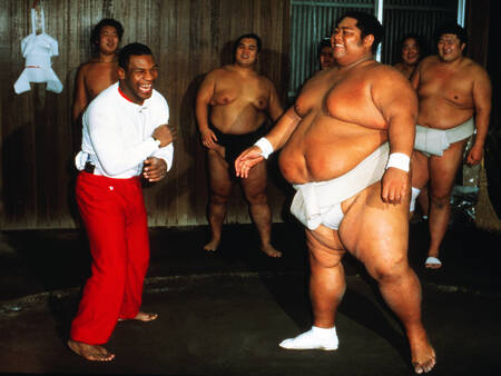 Mike Tyson Sumo wrestler