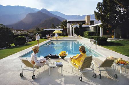 Glamour junto a la piscina