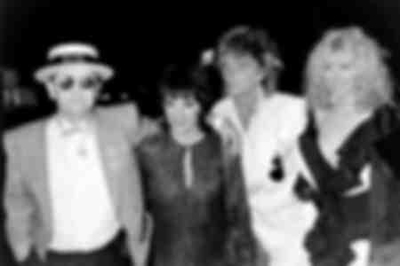 Elton John Rod Stewart Liza Minelli and Alana Stewart In London 1985