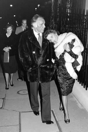 Actor Richard Burton And His Wife Sally 1984