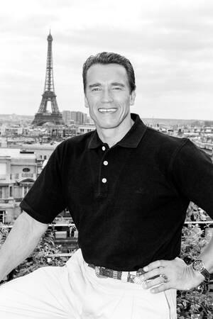 US Actor Arnold Schwarzenegger in Paris 1993