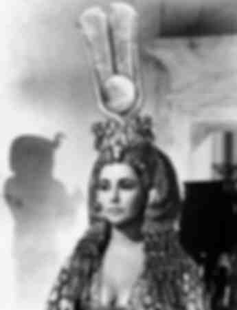 Elizabeth Taylor in the costume of Cleopatra