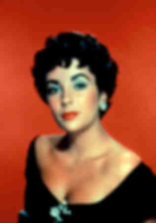 Elizabeth Taylor portrait pop art
