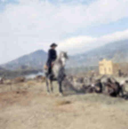 Henri Fonda sur le tournage du film Il etait une fois dans l Ouest