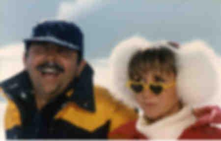 Marie-Anne Chazel y Gérard Jugnot en Les bronzés font du ski en 1979