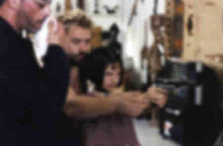 Préparation d'une scène du film Leon