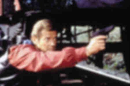 Roger Moore - Tournage du film Octopussy - 1983