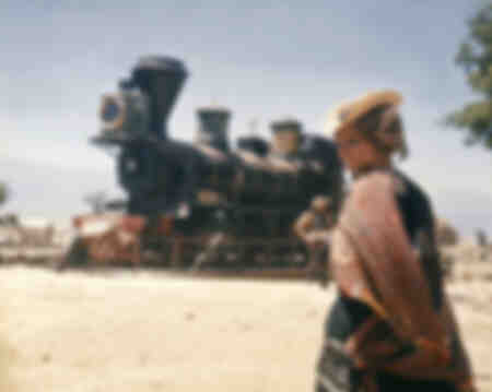 Filming of the film Once Upon a Time in the West