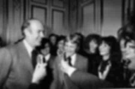Valéry Giscard d'Estaing et Claude François