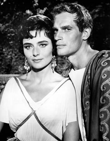 Charlton Heston y Marina Berti - Ben Hur - 1959